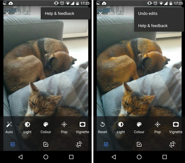 Undo Edits Google Photos