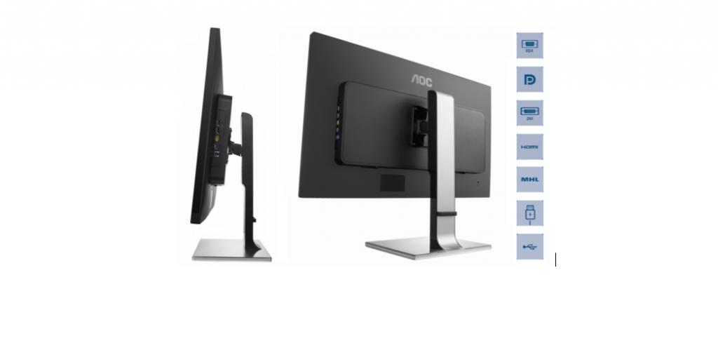 DisplayPort, HDMI cu MHL, DVI, VGA, USB 3.0: Un monitor, mai multe conexiuni