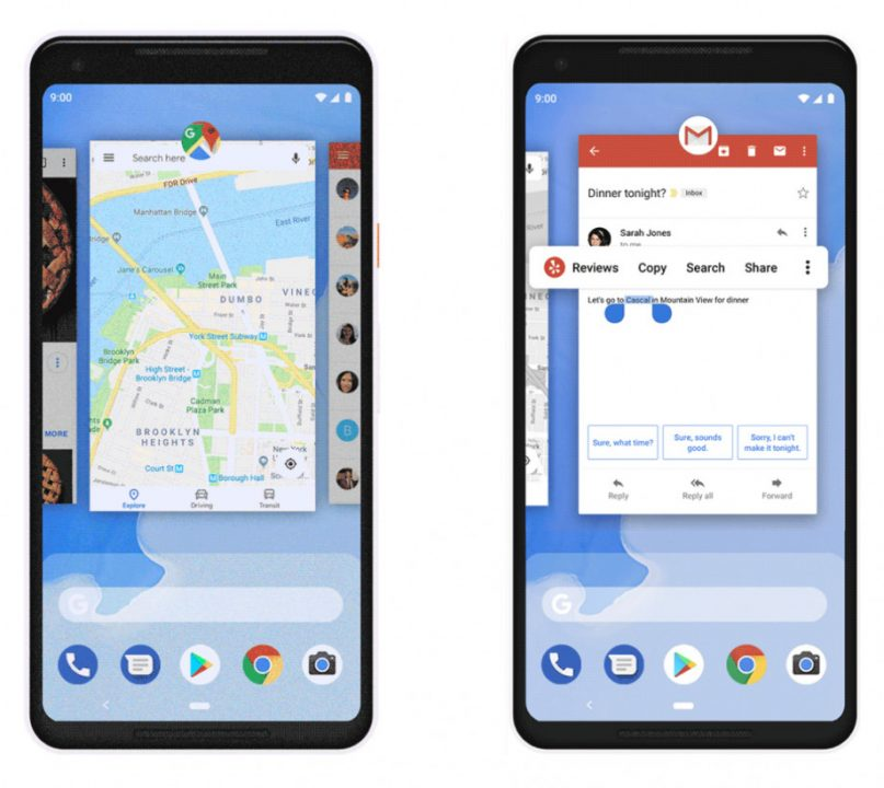 android p gestures