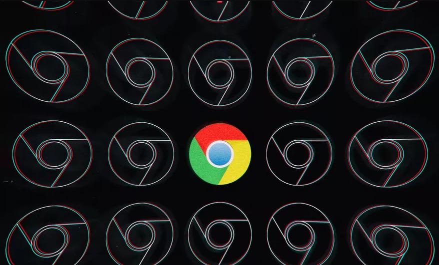 chrome logo black