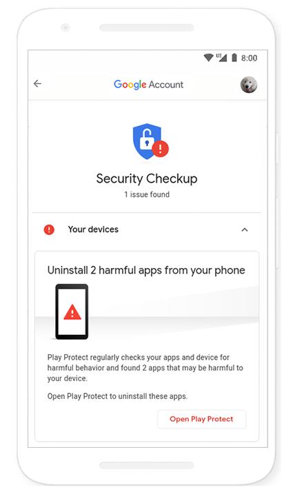 securitate cont google