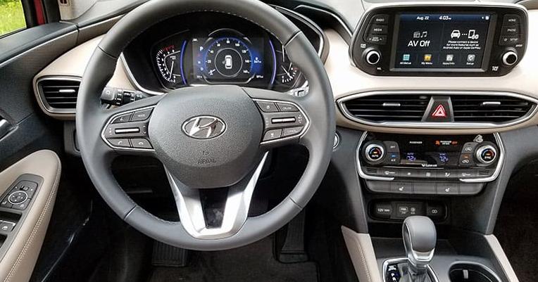 interior Hyundai 2019 Santa Fe SUV