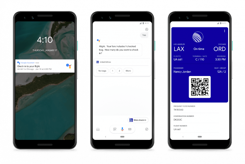 check in google assistant