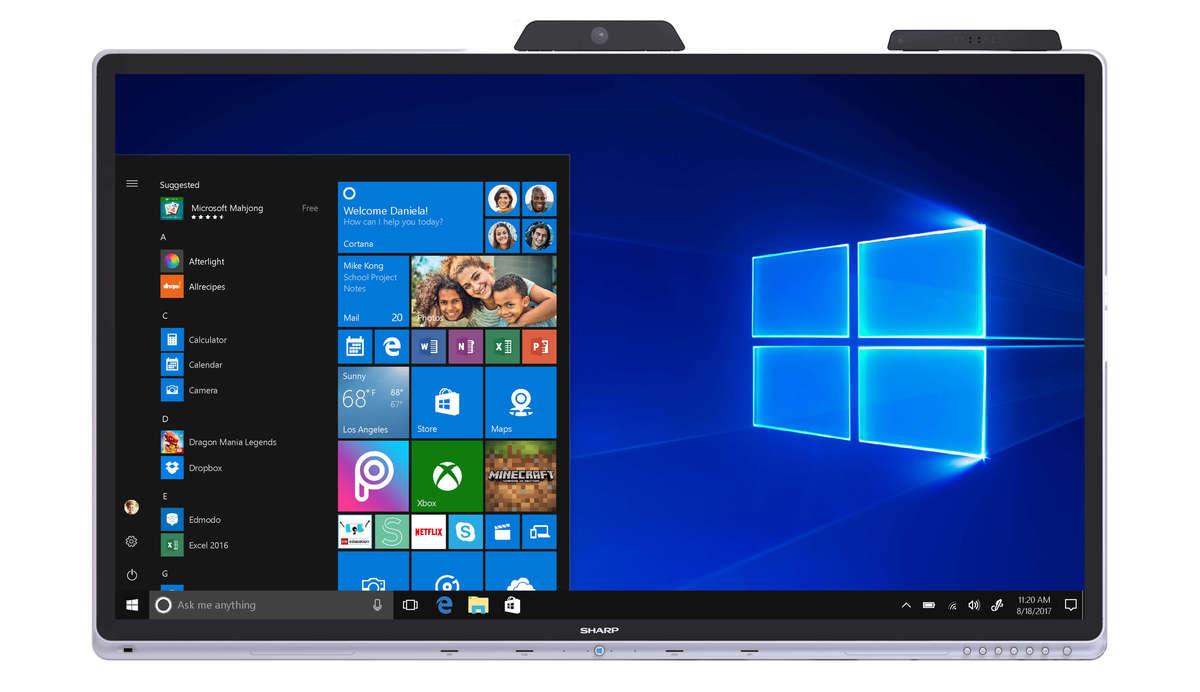 Ecran colaborare Windows Sharp
