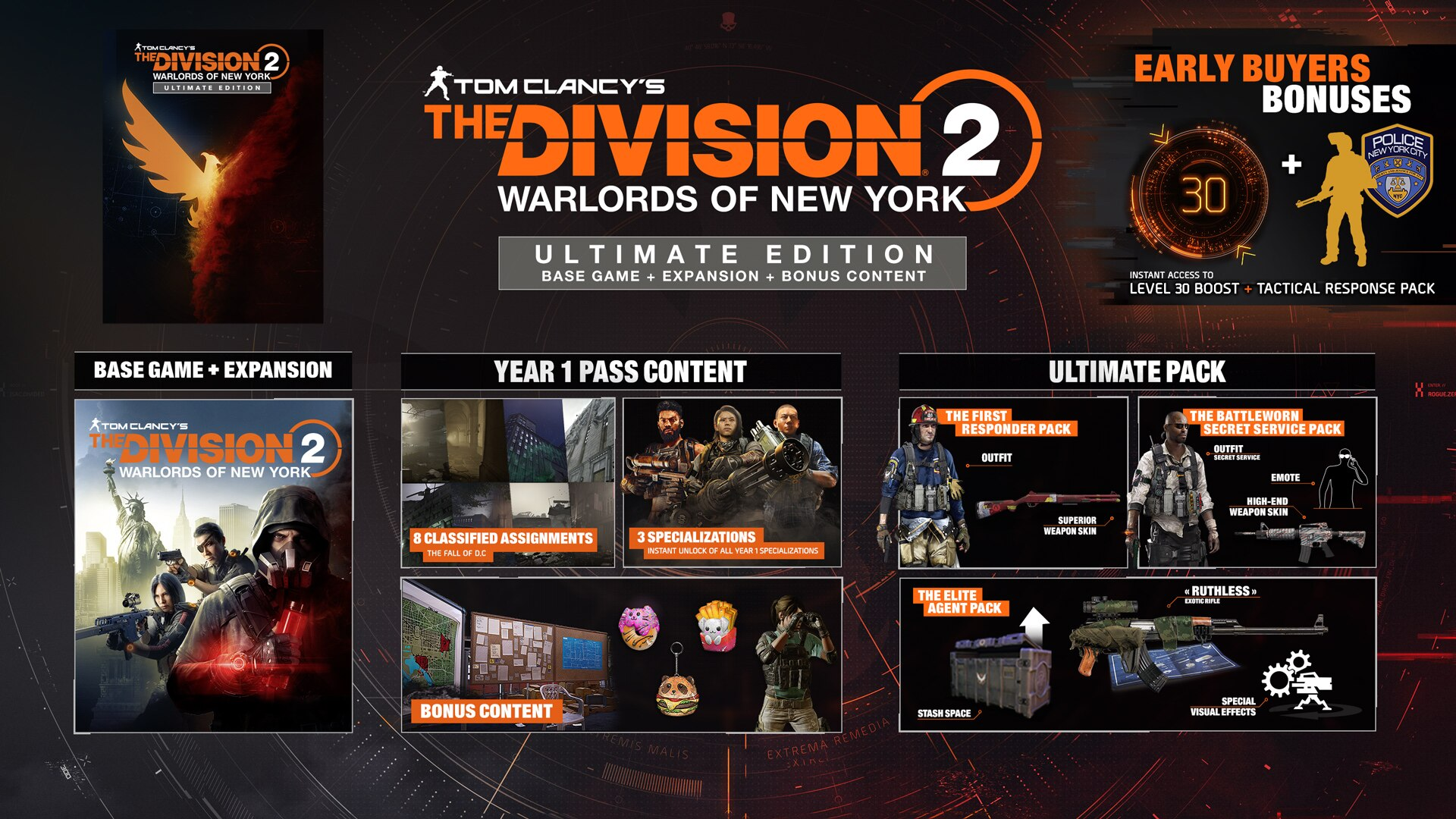 The Division 2: Warlords of New York ultimate edition