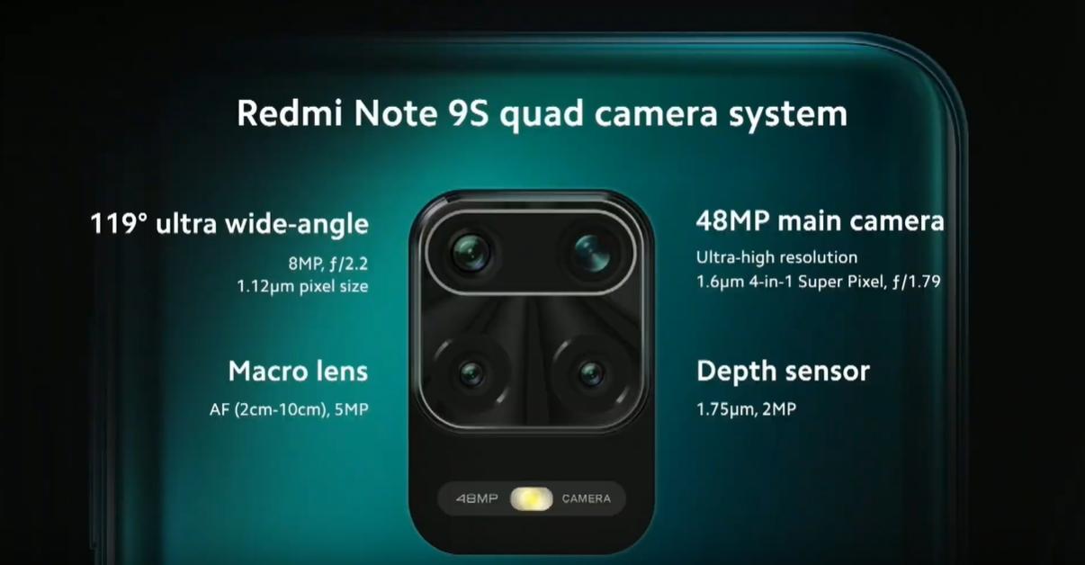 camera redmi note 9s