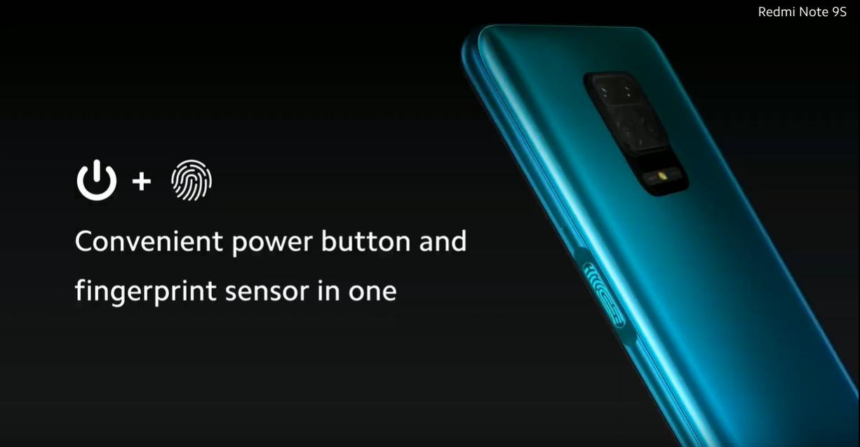 senzor amprenta redmi note 9s