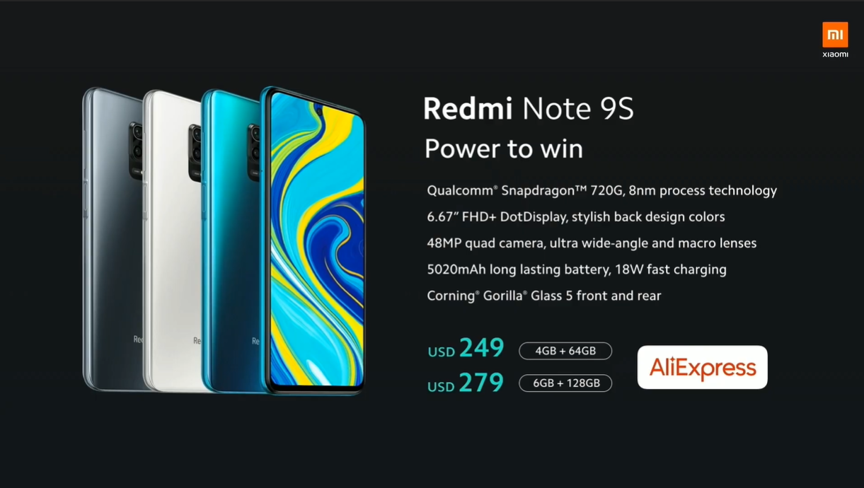 Xiaomi lanseaza online telefonul Redmi Note 9s