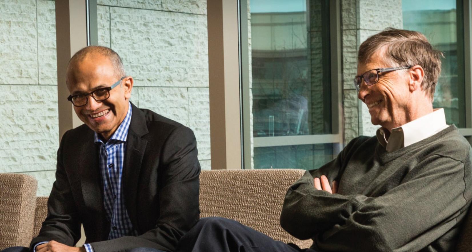 Bill Gates si Satya Nadella
