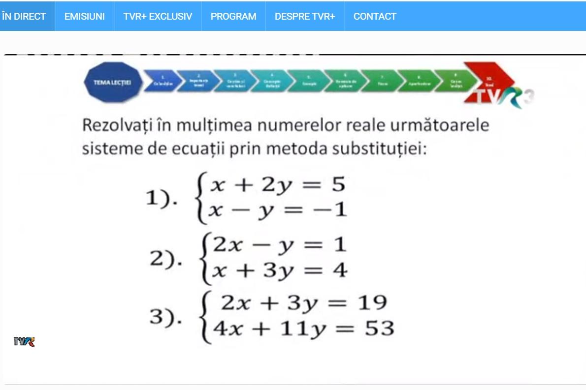 lectie matematica telescoala