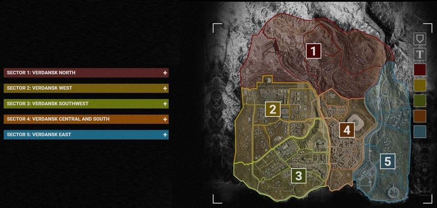 harta Call of Duty: Warzone