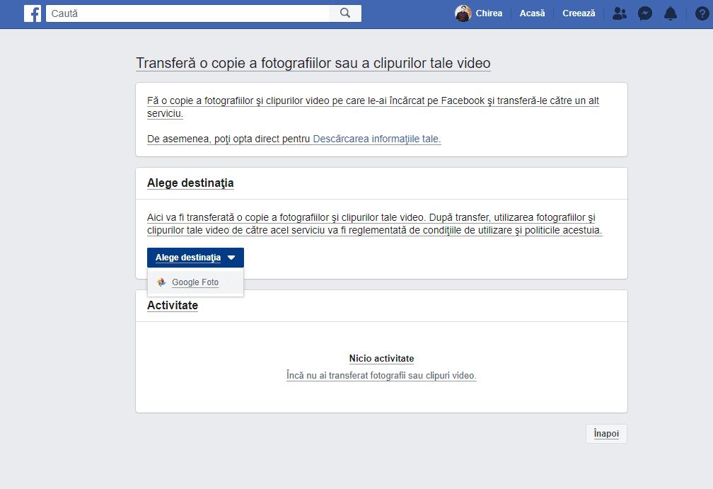 transfer facebook google photos