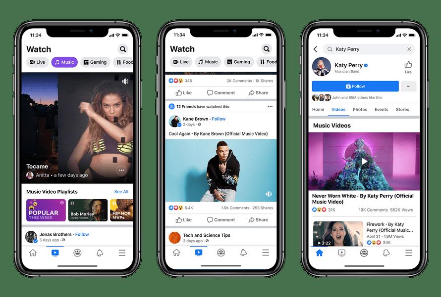 muzica Facebook Watch