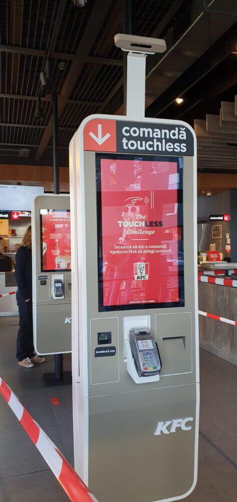 kiosk de comandă touchless kfc