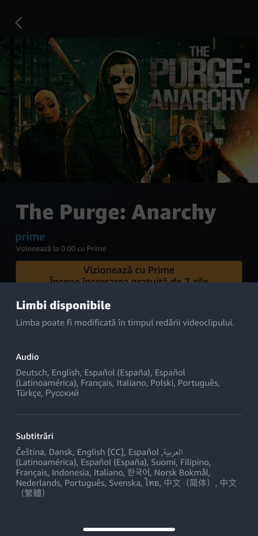 amazon prime video românia