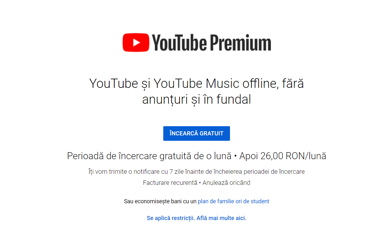 utilizatori youtube premium
