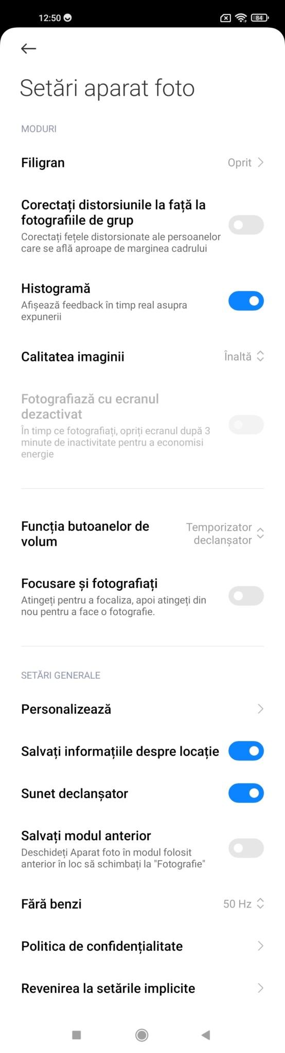 setari camera Xiaomi 11 Lite 5G NE
